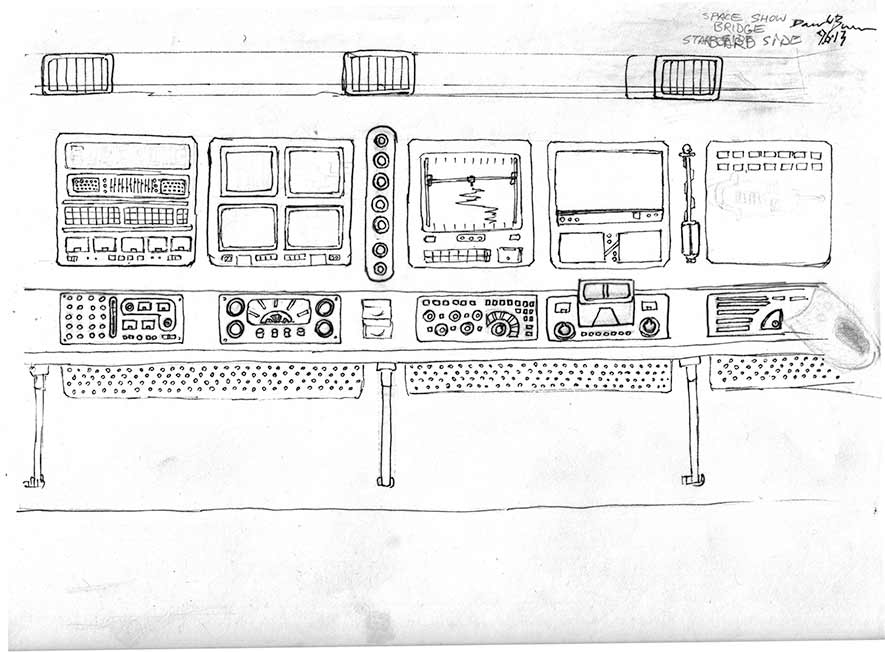 Original Line Artwork - Starboard Panels
