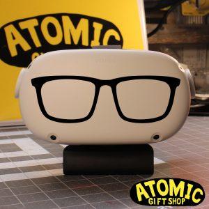 hornrimmed glasses on Oculus Quest 2 VR Headset